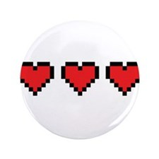 "3 Hearts 3.5"" Button"
