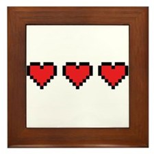 3 Hearts Framed Tile