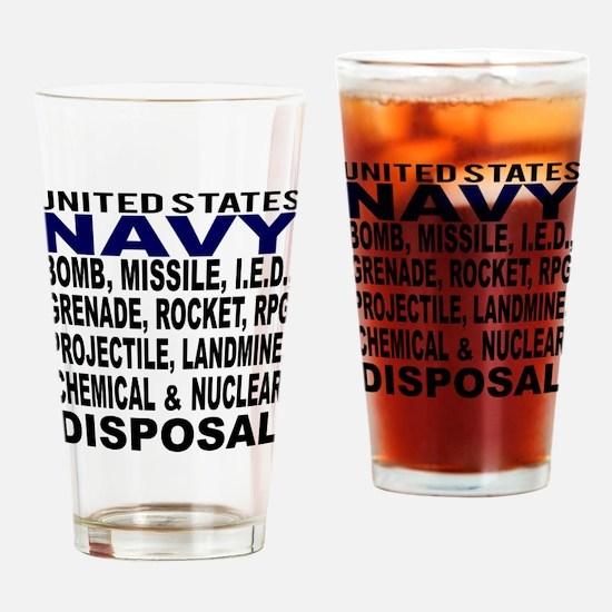 Navy Disposal Drinking Glass