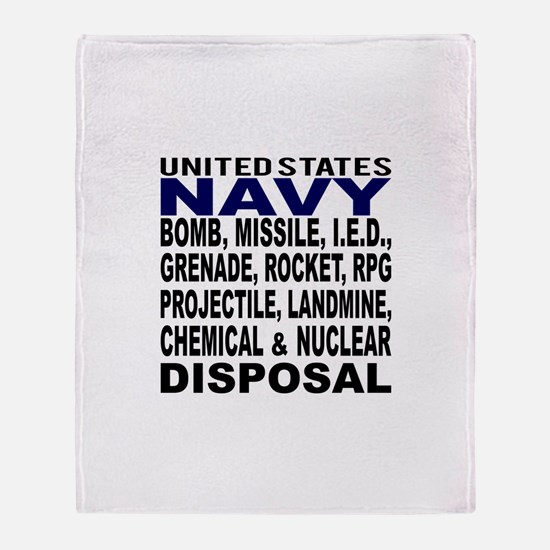 Navy Disposal Throw Blanket