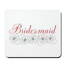 Gothic Bridesmaid Roses Mousepad