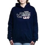 bitchcatclock.png Hooded Sweatshirt