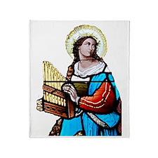 St Cecilia Throw Blanket