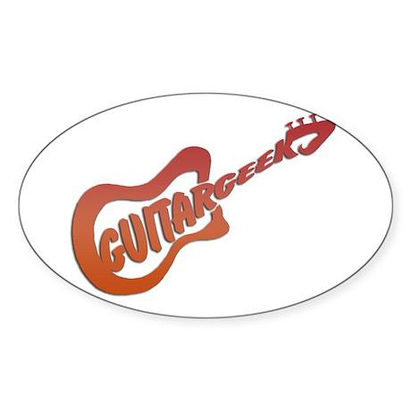 GUITAR GEEK Oval Sticker