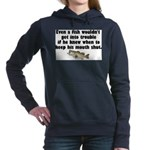 fishtrouble.png Hooded Sweatshirt