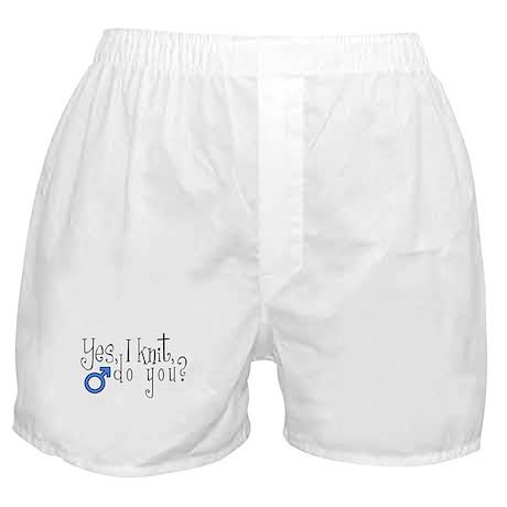 Men Knit Too! Boxer Shorts
