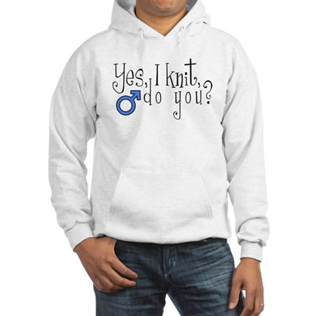 Men Knit Too! Hooded Sweatshirt