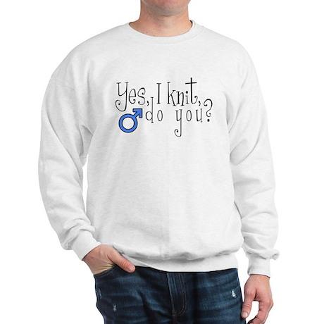 Men Knit Too! Sweatshirt