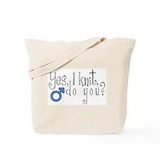 Men Knit Too! Tote Bag