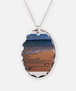 Cute Footprints sand Necklace