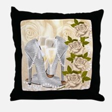 Shoes, Roses, Pearls And Champagne Throw Pillow