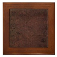 Worn Graph 2 Framed Tile