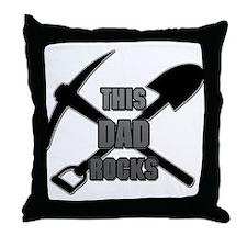 This Dad Rocks Throw Pillow