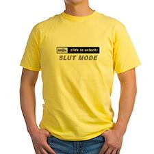 Slide to unlock Slut Mode T-Shirt