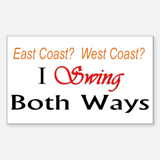"""I Swing Both Ways"" Rectangle Decal"