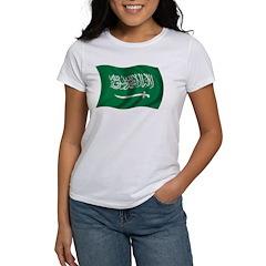 Wavy Saudi Arabia Flag Women's T-Shirt
