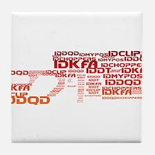 Cheat Code BFG Tile Coaster