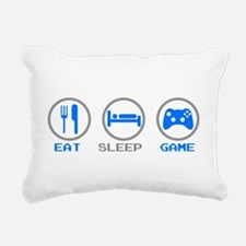 Eat Sleep Game Rectangular Canvas Pillow