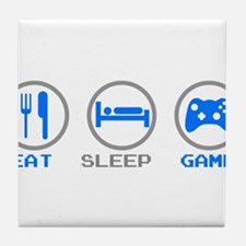 Eat Sleep Game Tile Coaster