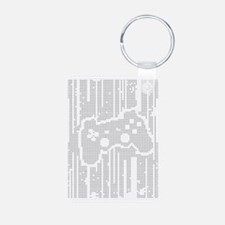 Dot Matrix Pad Aluminum Photo Keychain
