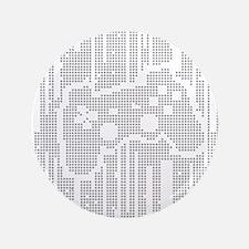 """Dot Matrix Pad 3.5"""" Button"""