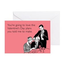 Plans You Told Me Greeting Card