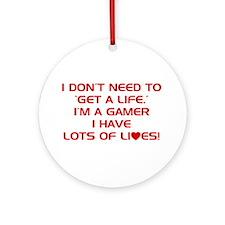 Get A Life Ornament (Round)