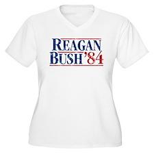 Distressed Reagan - Bush '84 Plus Size T-Shirt