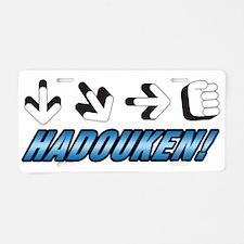 HADOUKEN! Aluminum License Plate