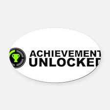 Achievement Unlocked Oval Car Magnet