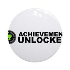Achievement Unlocked Ornament (Round)