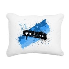 Remote Graffiti Rectangular Canvas Pillow