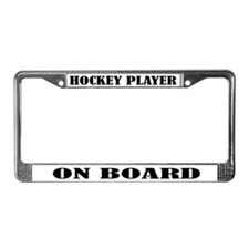 Hockey Player On Board License Plate Frame