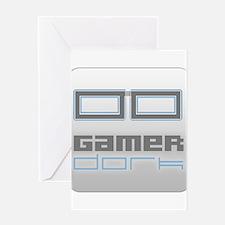 Gamer Dork Logo Glasses Greeting Card