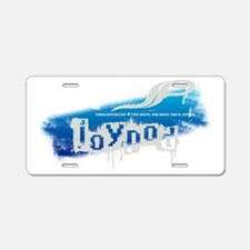 This Is Joypod Grunge Aluminum License Plate