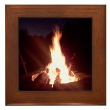 Cute Fire Framed Tile