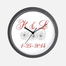Personalized Initials Dates Wall Clock