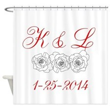 Personalized Initials dates Shower Curtain