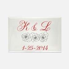 10 Personalized Initials Dates Magnets