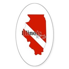 Illinois Diver Decal