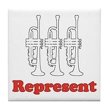 "Trumpet ""Represent"" Tile Coaster"