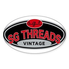 vintage auto Oval Decal