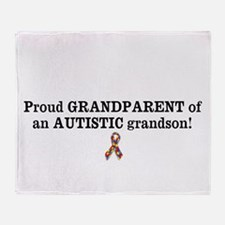 Proud GRANDPARENT Of An AUTISTIC Grandson! Throw B