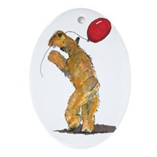 Wheaten with Balloon Ornament (Oval)