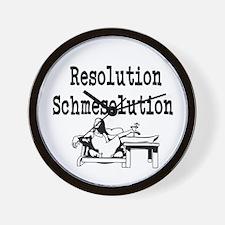 New Years Resolution Wall Clock