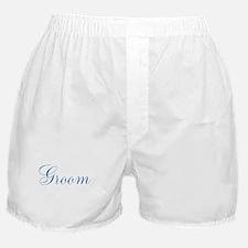 Blue Cursive Groom Boxer Shorts