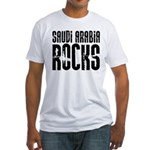 Saudi Arabia Rocks Fitted T-Shirt