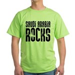 Saudi Arabia Rocks Green T-Shirt