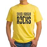 Saudi Arabia Rocks Yellow T-Shirt