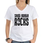 Saudi Arabia Rocks Women's V-Neck T-Shirt